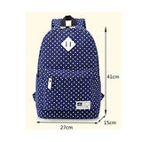 S Kaiko Canvas Backpack School Bakcpack For Women And Men Polka Dots School Bag Daypack Rucksack