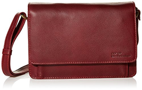 Derek Alexander East/West Half Flap Multi Compartment, Red