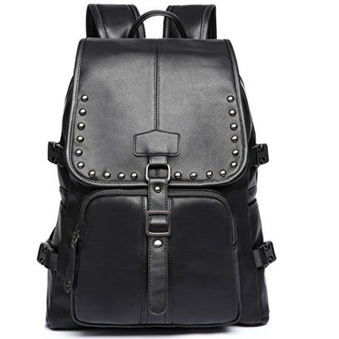 NEW STYLE Pu Leather Black Bag,Handbags,Shoulder Bags Laptop Backpack schoolbags Travel Bags