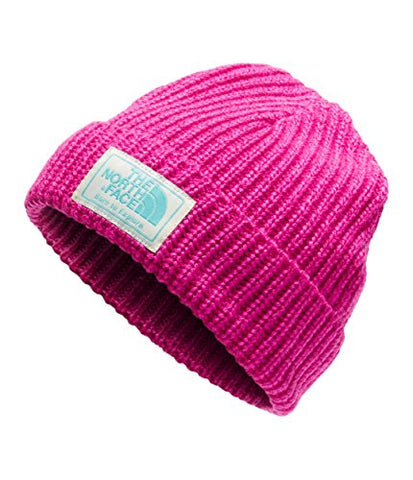 The North Face Kids Unisex Salty Puppy Beanie (Infant) Azalea Pink Marl/Mint Blue XS