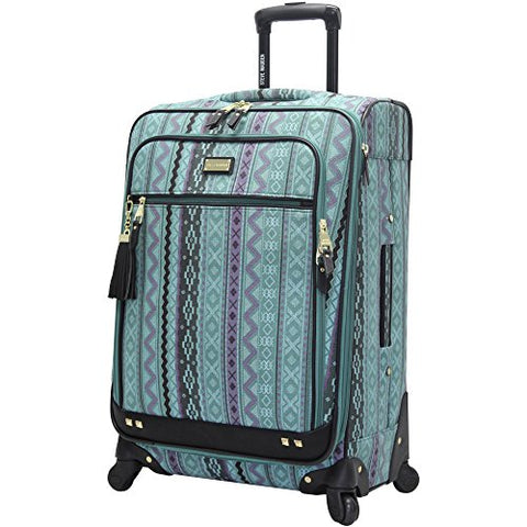 "Steve Madden Luggage Large 28"" Expandable Softside Suitcase With Spinner Wheels (Legends Turquoise)"