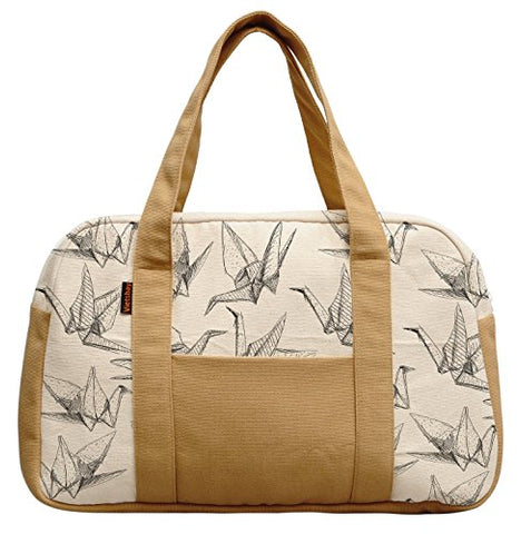 Women'S Origami Paper Cranes Printed Canvas Duffel Travel Bags Was_19