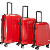 McBrine Luggage A719 Expandable 3pc Luggage Set (Red)