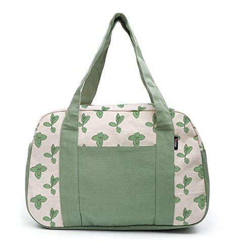 Women'S Mint Leaves-1 Printed Canvas Duffel Travel Bags Was_19