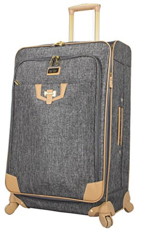 "Nicole Miller Paige Collection 28"" Expandable Luggage Spinner (Silver)"