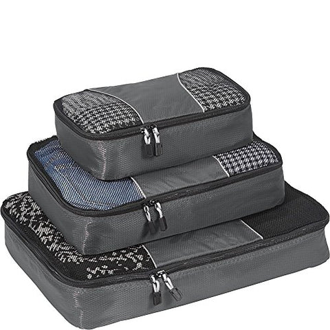 eBags Packing Cubes for Travel - 3pc Set - (Titanium)