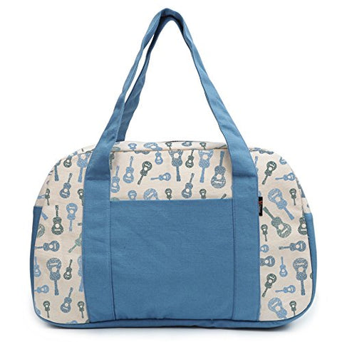 Women'S Classic Acoustic Guitars Music Printed Canvas Duffel Travel Bags Was_19