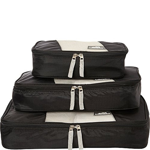 Mancini Leather Goods Pack'Em In Travel Packing Cubes (Black)