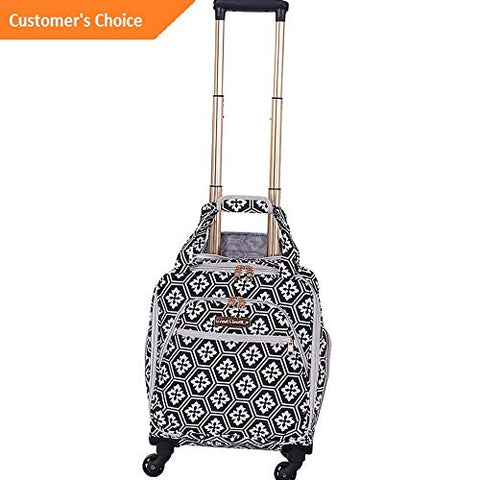 Sandover Jenni Chan Aria Snow Flake 15 Spinner Underseat Tote Softside Carry-On NEW | Model LGGG
