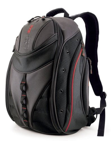 Mobile Edge Express Backpack- 16-Inch PC/17-Inch Mac (Black/Red)