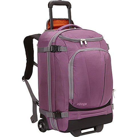 "eBags TLS Mother Lode Rolling Weekender 22"" Travel Backpack with Wheels - Carry-On - (Eggplant)"