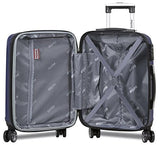 Trendy 3 pcs Luggage Travel Set Spinner Travel Suitcase Set Travel luggage organizer bag Travel luggage set Spinner suitcase set (Navy)