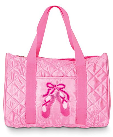 Pink Quilted Satin Duffel