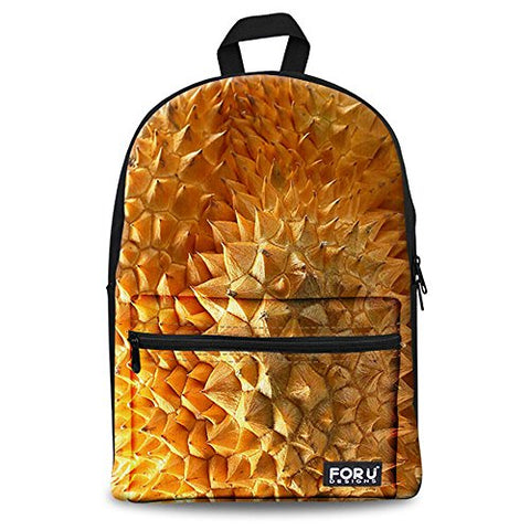 Bigcardesigns Durian Canvas Travel Backpack Notebook Book Bag