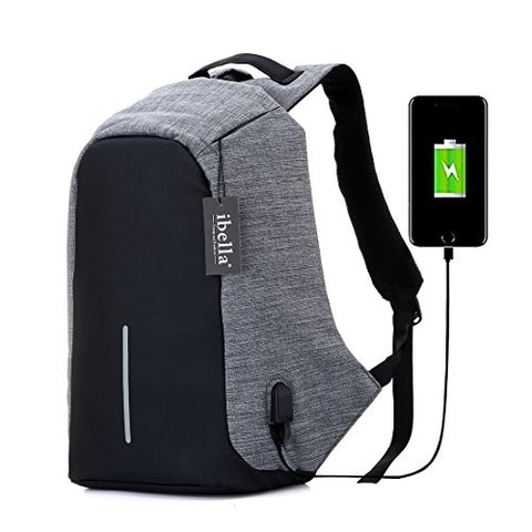 College Backpack, Business Laptop Backpack, Anti-Theft Water Resistant Computer Usb Charging