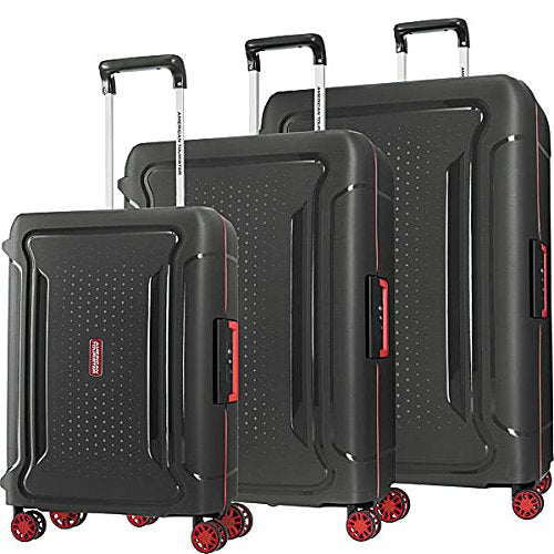 American Tourister Tribus 3Pc Set (20/25/29) Spinner, Black