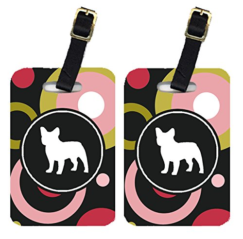 Caroline's Treasures KJ1128BT Pair of 2 French Bulldog Luggage Tags, Large, multicolor