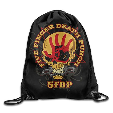 Five Finger Death Punch Drawstring Backpack Sackpack Bag