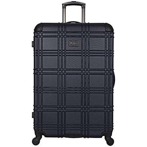 "Ben Sherman Nottingham 28"" Embossed PAP 4-Wheel Upright Luggage,Suitcase in Navy"