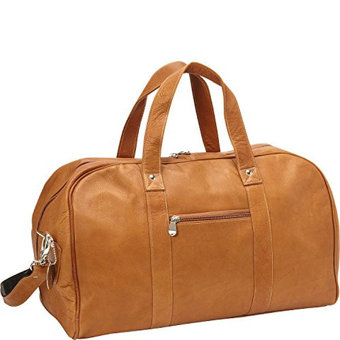 David King Vaquetta Leather Deluxe A Frame Duffel In Tan