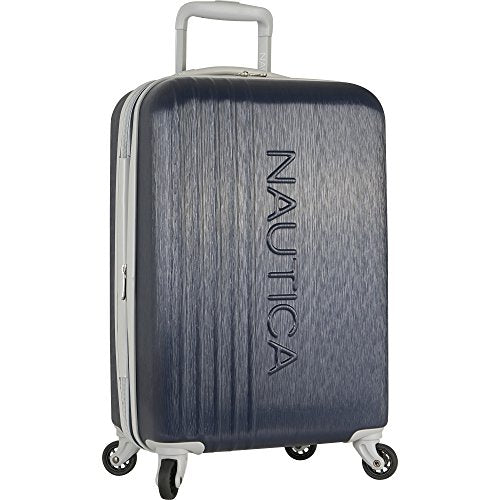 Nautica Lifeboat 20 Inch Hardside Expandable Carry On Luggage, Classic Navy