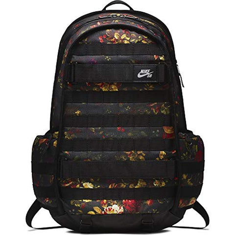 "Nike Sb Rpm Solid Backpack""Floral"" Black/Red/Gold"