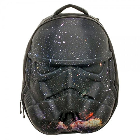 Star Wars Stormtrooper Galaxy Helmet 3D Molded Backpack, Black, One Size