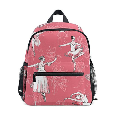 GIOVANIOR Ballerinas Ballet Girl Background Lightweight Travel School Backpack for Boys Girls Kids