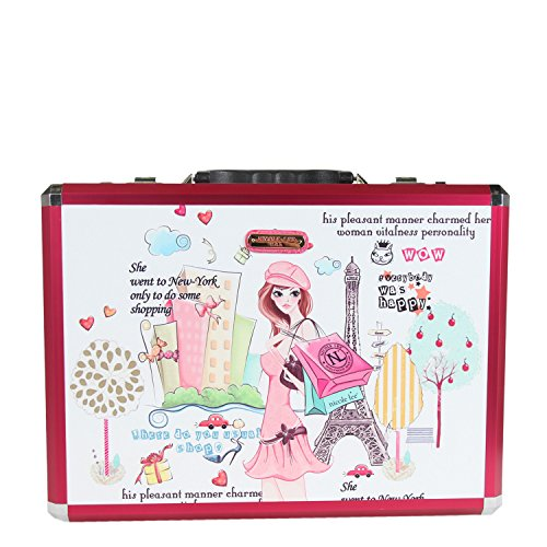 Nicole Lee Priscilla 19 Inch Aluminum Briefcase, Shopping Girl, One Size