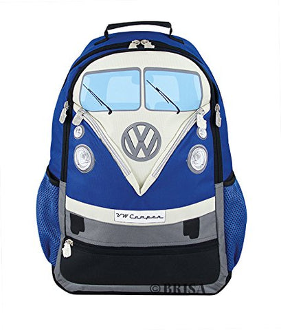 Vw Collection By Brisa Backpack With Vw Bus T1 Front Design (Blue)