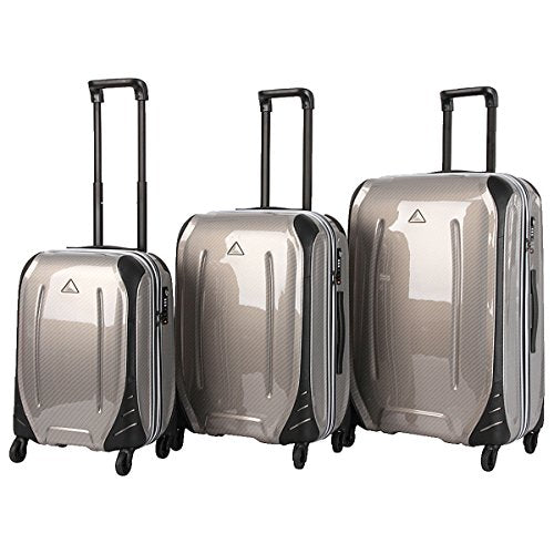 The Set of Classic Bronze carbon Triforce Empire Collection Hardside 3-piece Spinner Luggage Set
