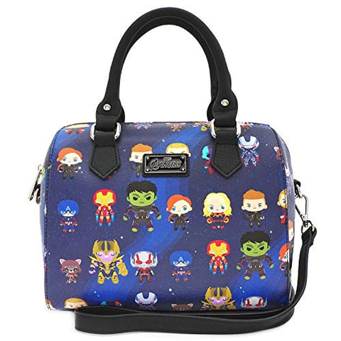 Loungefly Marvel The Avengers Chibi All Over Print Duffle Bag Purse - MVTB0077
