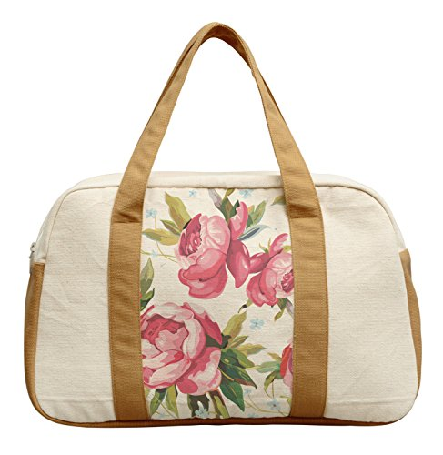 Women'S Peony Abstract Pattern-6 Printed Canvas Duffel Travel Bags Was_19
