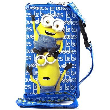 Despicable Me Minions Authentic Licensed Lanyard With Cellphone Purse/Wallet (Blue)