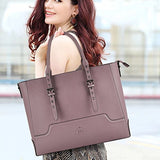 Laptop Bag for Women, 15.6 Inch Laptop Tote Multi-Pocket Work Tote Bag Structured Briefcase with