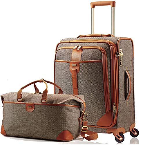 Hartmann Herringbone Luxe Softside 2 Piece Set Terracotta (Terracotta)