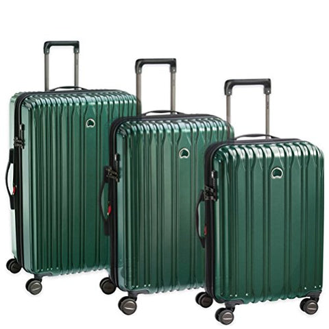 Delsey Chromium Lite 3 Piece Hardside Spinner Luggage Set (Green)