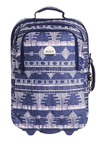 Roxy Womens Wheelie Rolling Suitcase Luggage Akiya Combo Blue Print