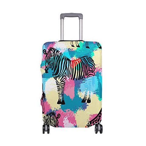 GIOVANIOR Zebra And Giraffe Luggage Cover Suitcase Protector Carry On Covers