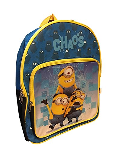 "Despicable Me Minions Exclusive Blue Yellow Kids School Backpack 15"" [Chaos]"