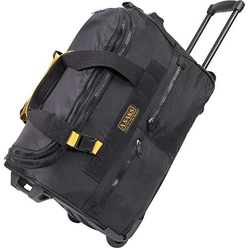 A.Saks Expandable 20in. Nylon Wheeled Duffel in Black