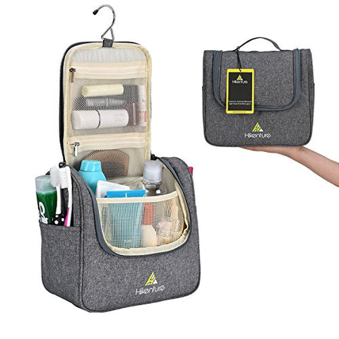 Travel Hanging Toiletry Bag By Hikenture | Cosmetics, Makeup And Toiletries Organizer | Compact