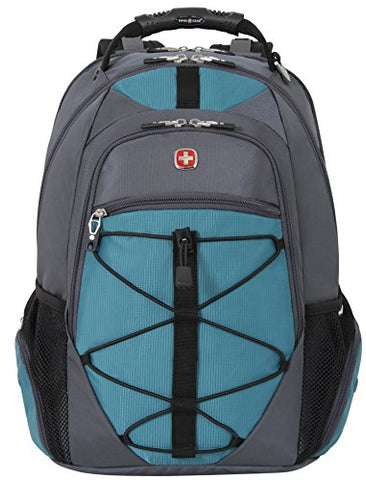 Swiss Gear Sa6799 Gray With Teal Tsa Friendly Scansmart Laptop Backpack - Fits Most 15 Inch Laptops