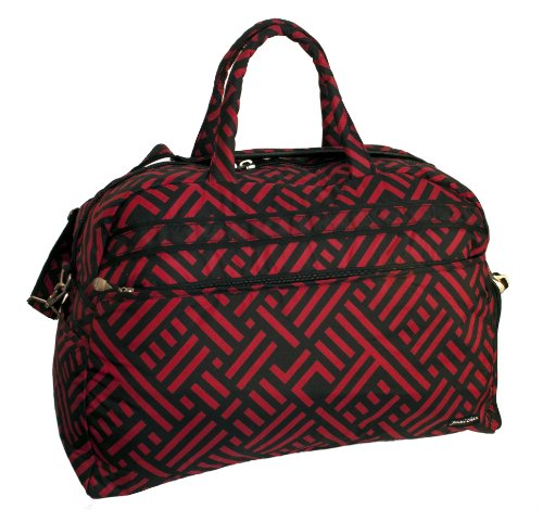 Jenni Chan Signature Soft Gym Duffel, Black/Red, One Size