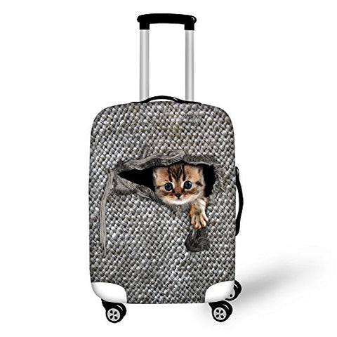 "Lovely Cat Travel Luggage Protective Covers for 26""-30"" Suitcase Elastic"