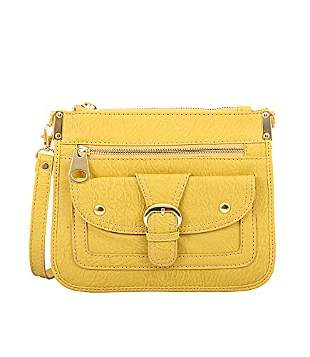 Mellow World Hipster Hb2808 Cross Body Bag, Mustard, One Size