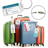 Cruise Luggage Tags Etag Holders Zip Seal and Steel Loops Thick PVC