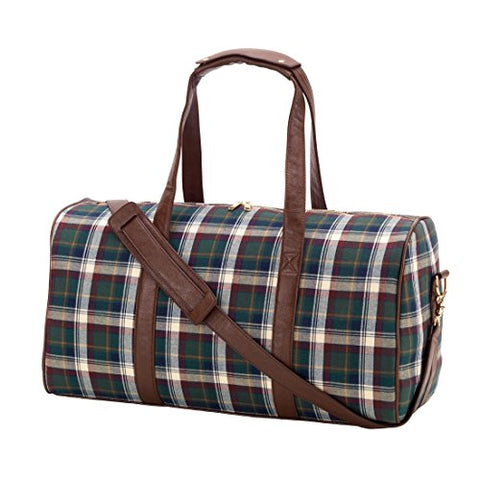 Avery Plaid Duffel Carry On Bag - Blank