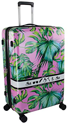 Chariot 28'' Paradise Hardside Spinner Luggage Luggage 28 Inches Pink/green