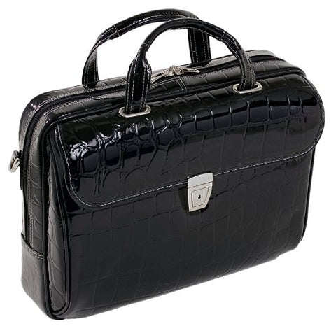 Siamod Ignoto 35515 Black Leather Large Ladies' Laptop Brief